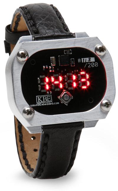 Uhr im rustikalen LED Stil