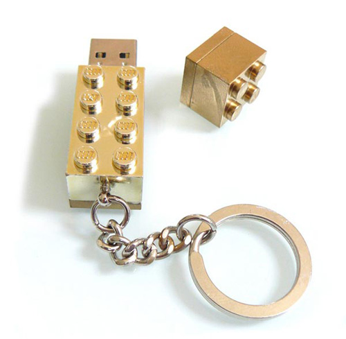 USB Stick Lego aus Gold