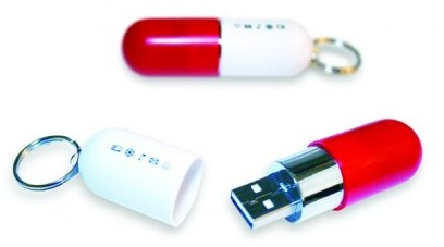 USB Stick in Pille Form
