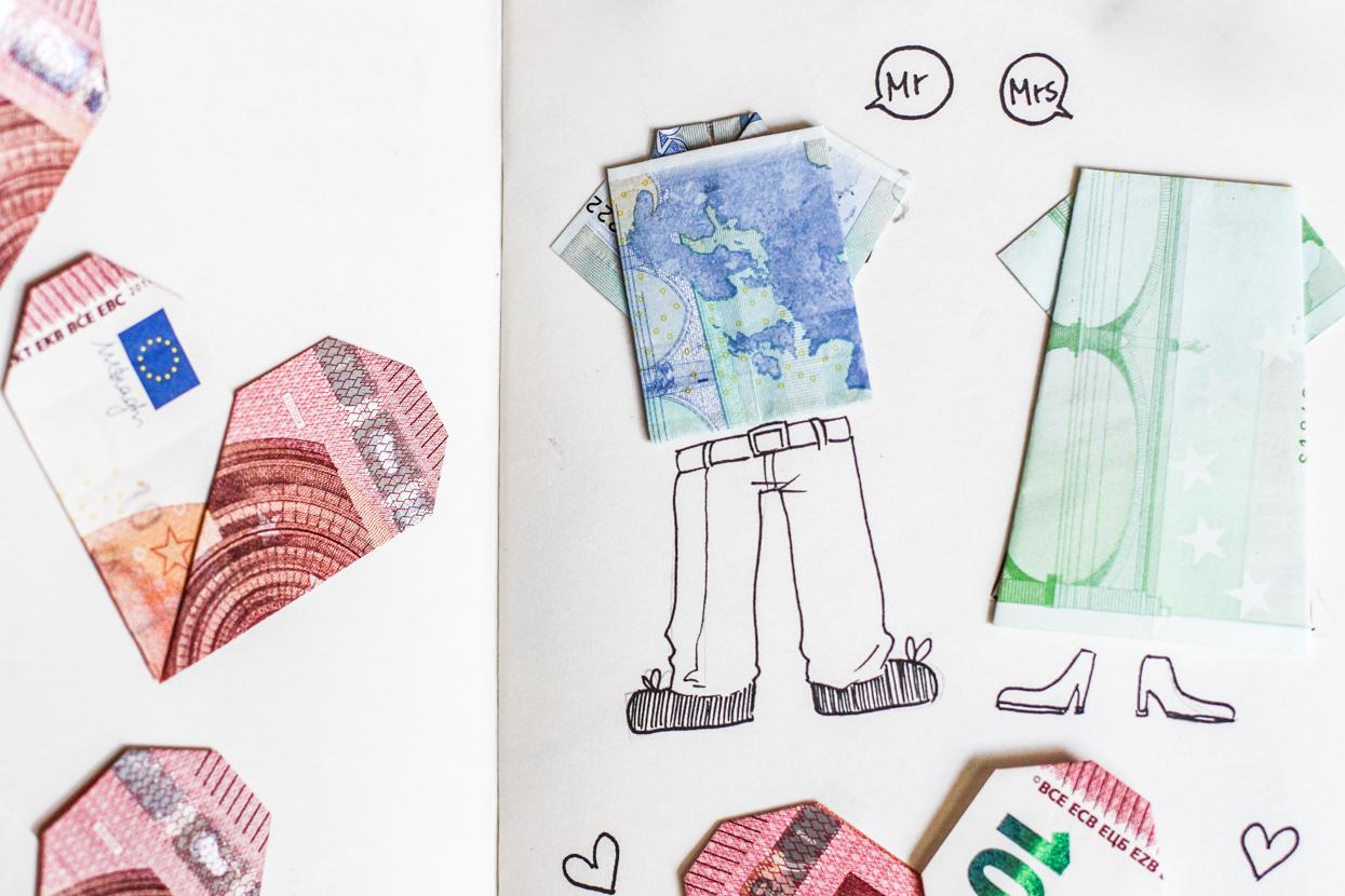 au ergew hnliche origami geldgeschenke origami tiere und. Black Bedroom Furniture Sets. Home Design Ideas