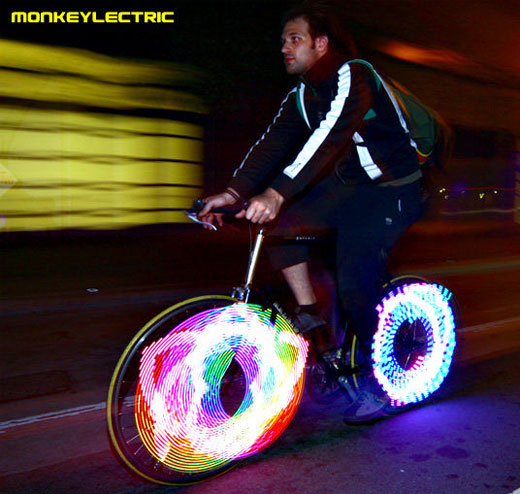 Pimp dein Fahrrad mit der Speichenbeleuchtung von Monkeylectric