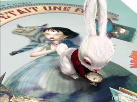 Alice im Popup Buch