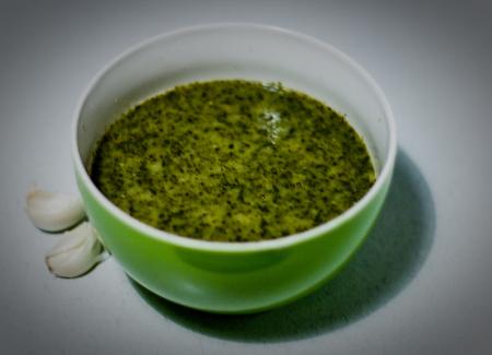 Grünkohlsuppe mit Sahne