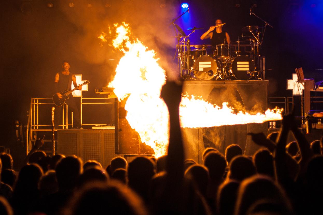Konzertfotografie Rammstein Coverband Feuerengel