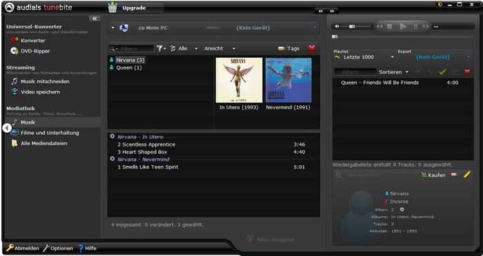 Musik im Internet mitschneiden mit Audials Tunebite 9