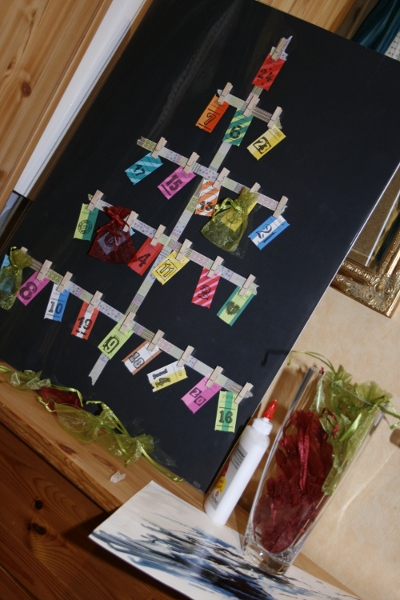 DIY Tannenbaum Adventskalender mit Washi-Tape in nur 5 Minuten