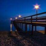 Seebrücke von Pelzerhaken zur blauen Stunde