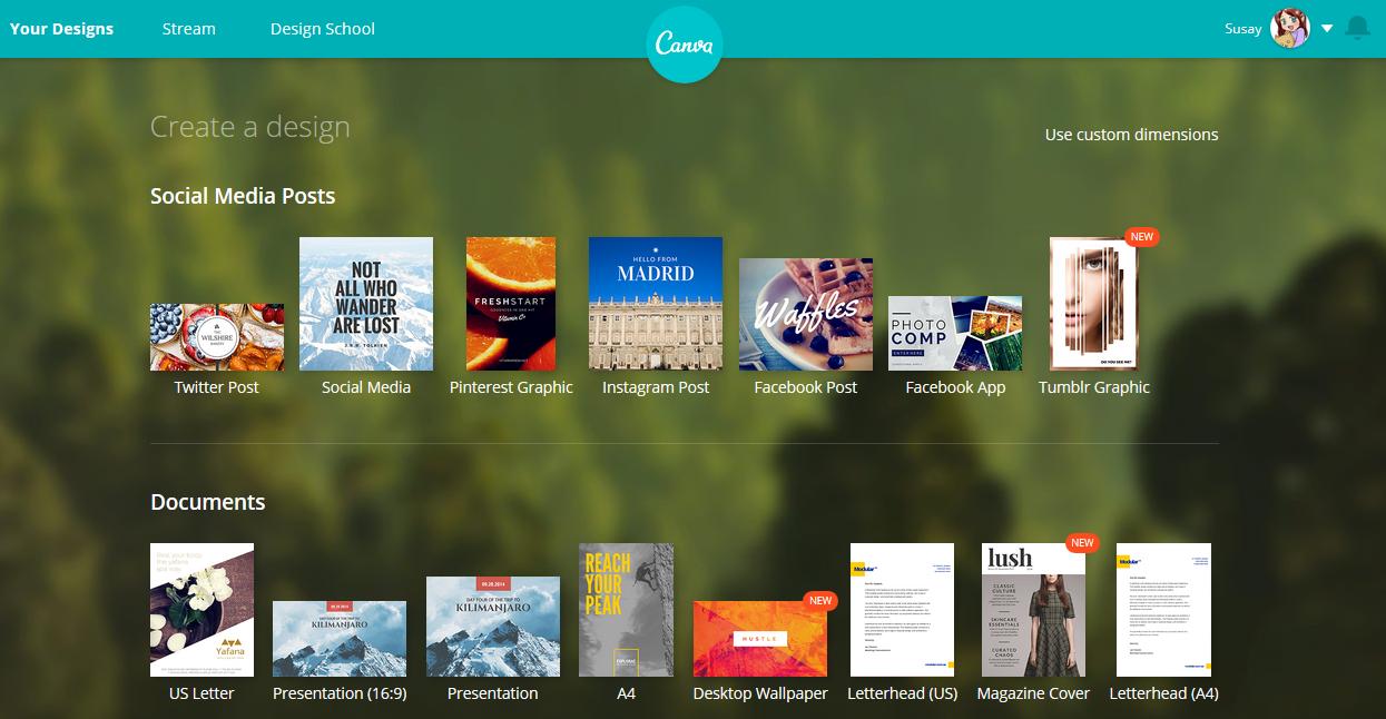 Kostenlose Grafikbearbeitung online mit Canva