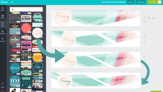 Canva Susay Banner Workflow