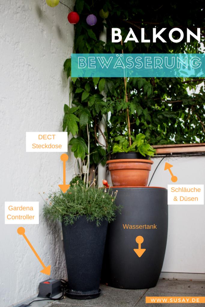 automatisches balkon bew sserungssystem mit gardena dect steckdose und homee anbindung susay. Black Bedroom Furniture Sets. Home Design Ideas