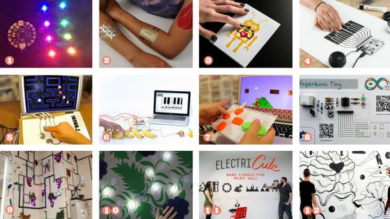 Ideensammlung: Smarte Elektronik Projekte mit leitfähigen Materialien